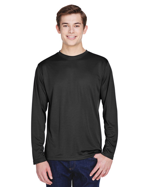 Team 365 Men's Zone Performance Long-Sleeve T-Shirt - Black