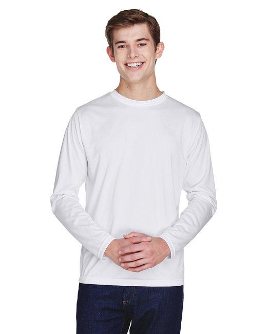 Team 365 Men's Zone Performance Long-Sleeve T-Shirt - White