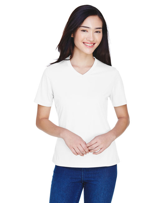 Team 365 Ladies' Zone Performance T-Shirt - White