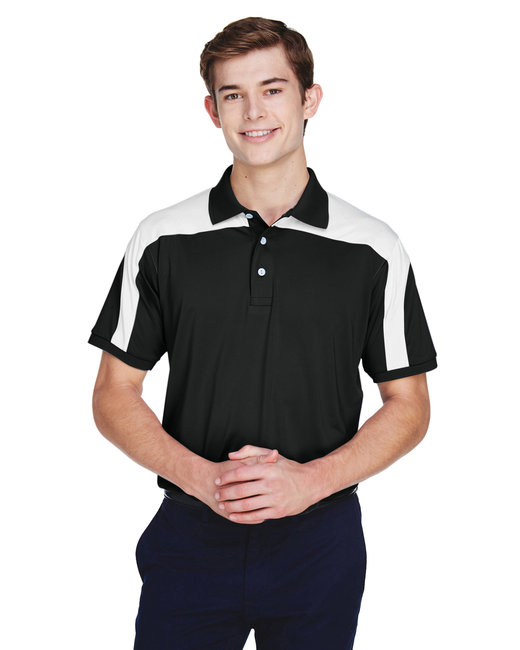 Team 365 Men's Victor Performance Polo - Black