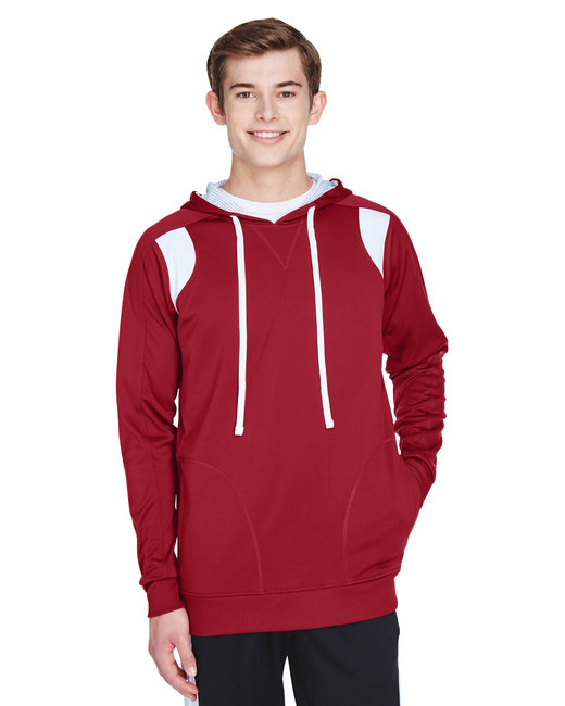 Team 365 Men's Elite Performance Hoodie - Sp Scarlet Red