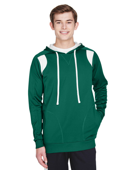 Team 365 Men's Elite Performance Hoodie - Sp Forest/ White