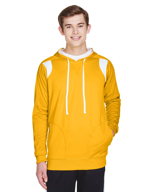 Team 365 Men's Elite Performance Hoodie - Sp Ath Gold/ Wht