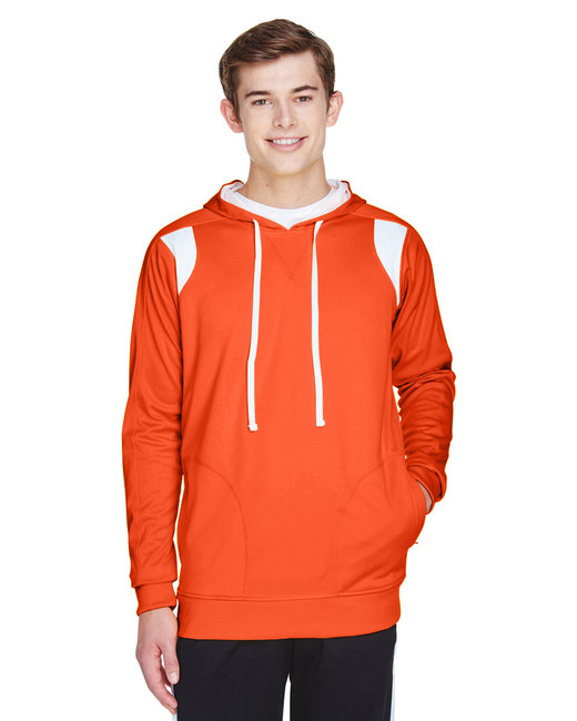 Team 365 Men's Elite Performance Hoodie - Sp Orange/ White