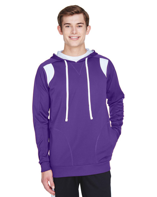Team 365 Men's Elite Performance Hoodie - Sp Purple/ White