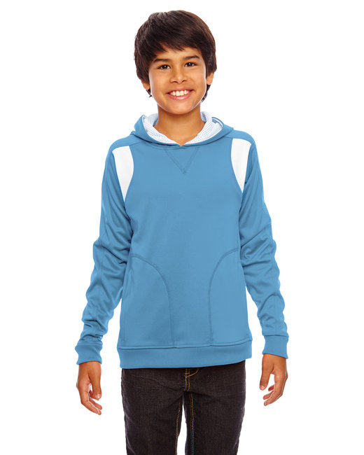 Team 365 Youth Elite Performance Hoodie - Sp Lt Blue/ Wht