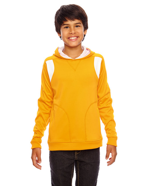 Team 365 Youth Elite Performance Hoodie - Sp Ath Gold/ Wht