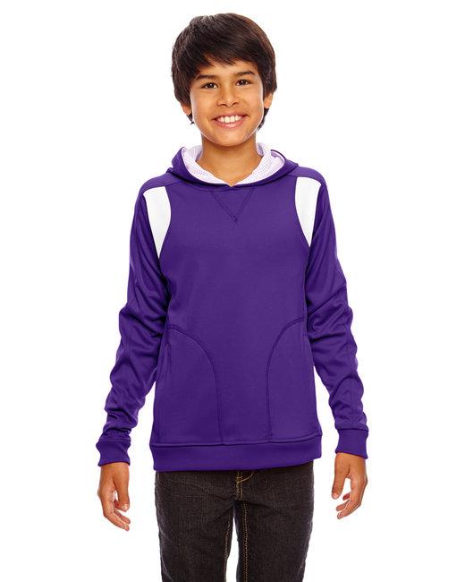 Team 365 Youth Elite Performance Hoodie - Sp Purple/ White