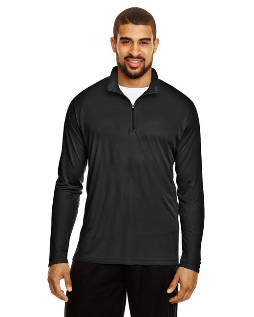 Team 365 Men's Zone Performance Quarter-Zip - Black