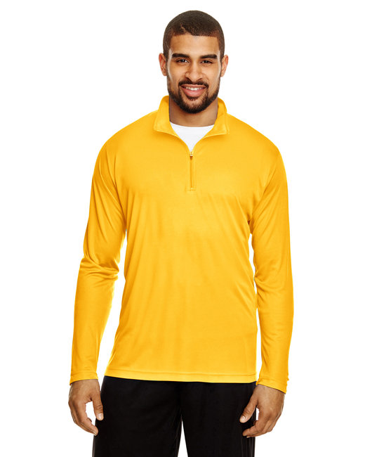 Team 365 Men's Zone Performance Quarter-Zip - Sp Athletic Gold