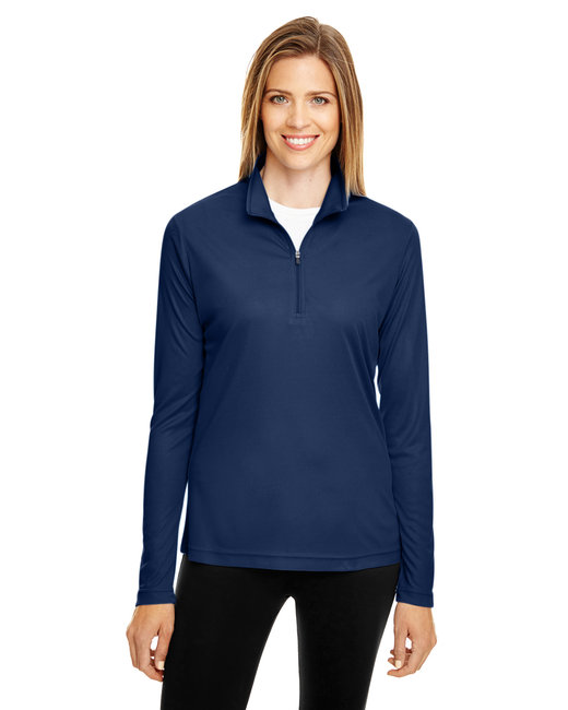 Team 365 Ladies' Zone Performance Quarter-Zip - Sport Dark Navy