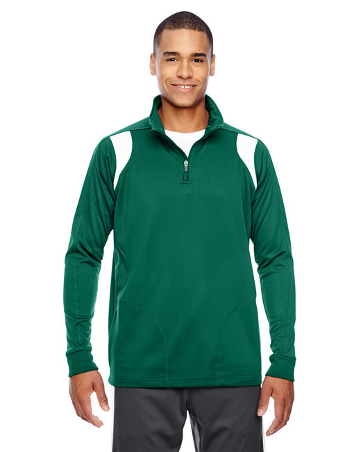 Team 365 Men's Elite Performance Quarter-Zip - Sp Forest/ White