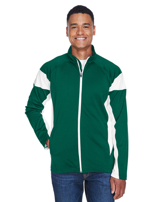 Team 365 Men's Elite Performance Full-Zip - Sp Forest/ White