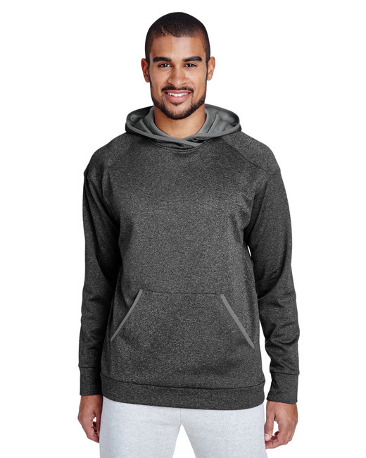 Team 365 Adult Excel M�lange Performance Fleece�Hoodie - D Gry Hth/ Sp Gr