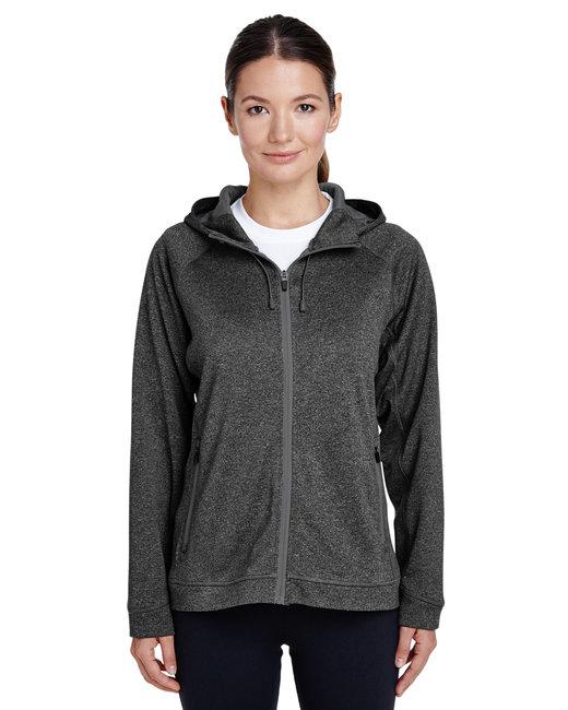 Team 365 Ladies' Excel M�lange Performance Fleece Jacket - D Gry Hth/ Sp Gr