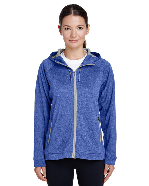 Team 365 Ladies' Excel Mélange Performance Fleece Jacket - Sp Ry Ht/ Sp Sil