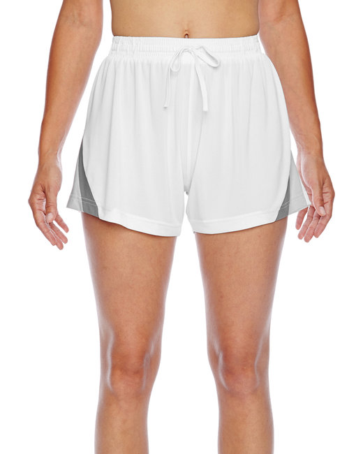 Team 365 Ladies' Tournament Short - White