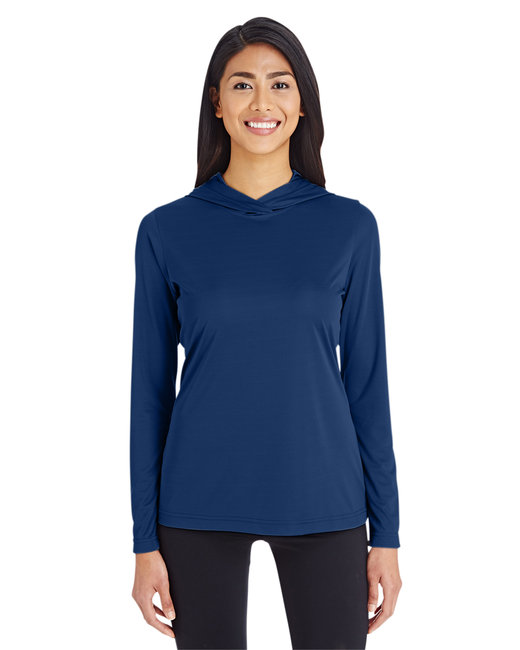Team 365 Ladies' Zone Performance Hoodie - Sport Dark Navy