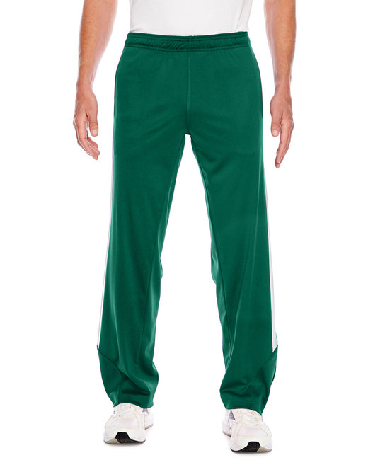 Team 365 Men's Elite Performance Fleece Pant - Sp Forest/ Wht