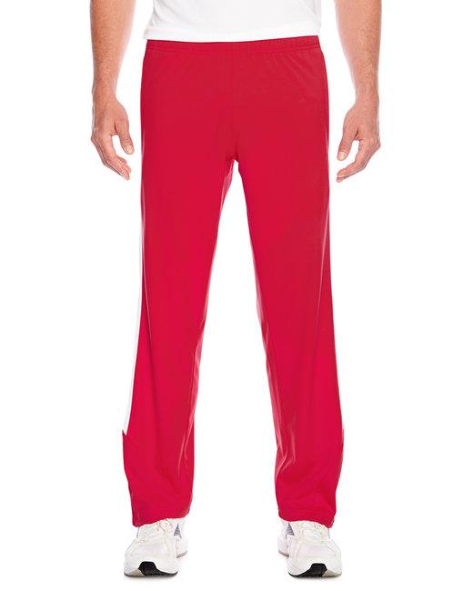Team 365 Men's Elite Performance Fleece Pant - Sport Red/ White