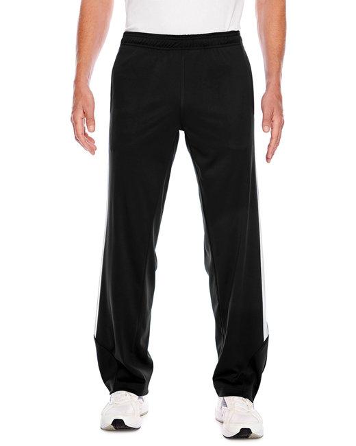 Team 365 Men's Elite Performance Fleece Pant - Black/ White