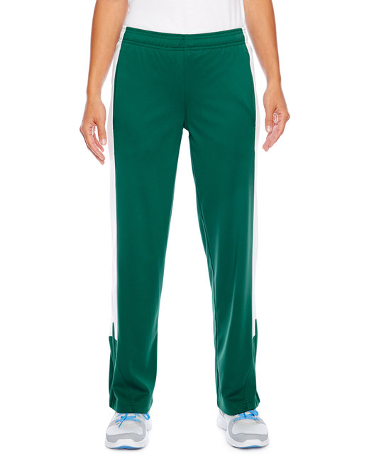 Team 365 Ladies' Elite Performance Fleece Pant - Sp Forest/ Wht