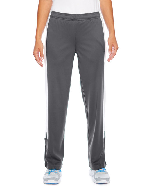Team 365 Ladies' Elite Performance Fleece Pant - Sp Graphite/ Wht
