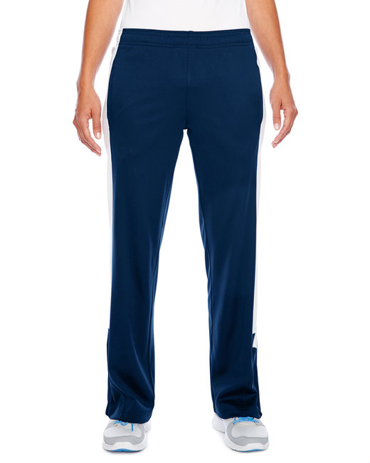 Team 365 Ladies' Elite Performance Fleece Pant - Sp Dk Navy/ Wht