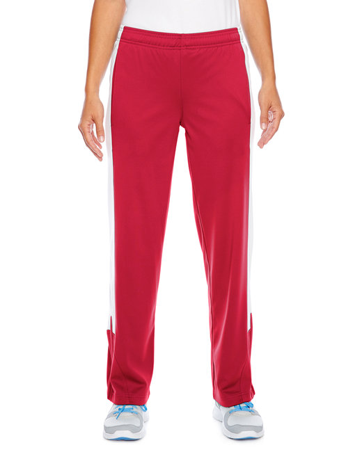 Team 365 Ladies' Elite Performance Fleece Pant - Sport Red/ White