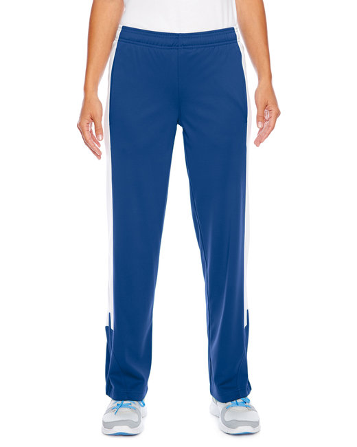Team 365 Ladies' Elite Performance Fleece Pant - Sport Royal/ Wht