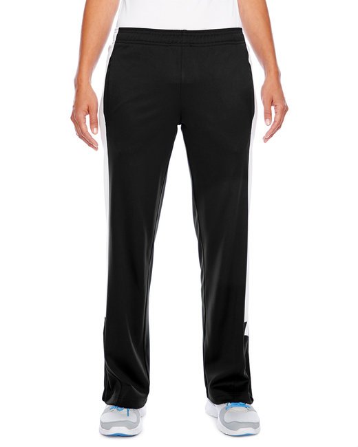 Team 365 Ladies' Elite Performance Fleece Pant - Black/ White