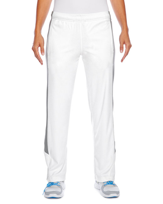 Team 365 Ladies' Elite Performance Fleece Pant - White/ Sp Grpht