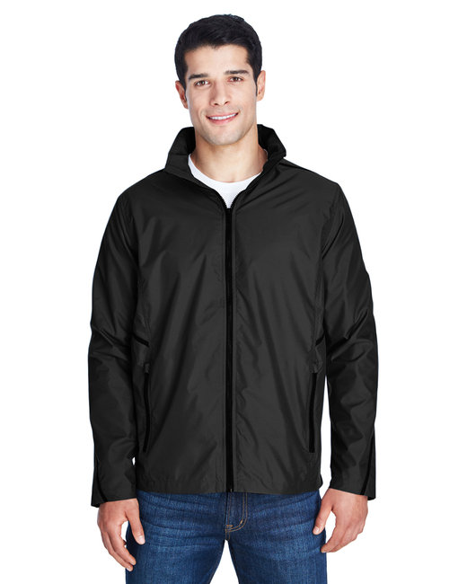 Team 365 Adult Conquest Jacket with Mesh Lining - Black