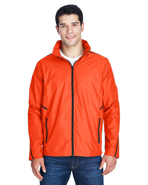 Team 365 Adult Conquest Jacket with Mesh Lining - Sport Orange