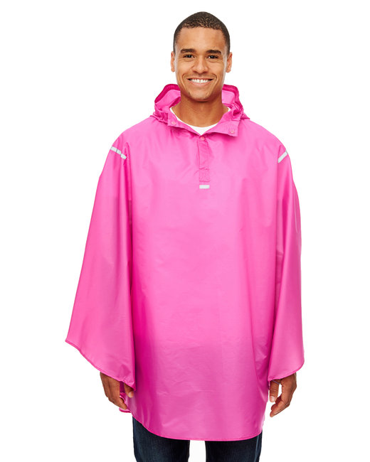 Team 365 Adult Stadium Packable Poncho - Sprt Chrity Pink