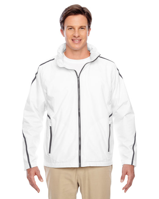 Team 365 Adult Conquest Jacket with Fleece Lining - White