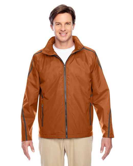 Team 365 Adult Conquest Jacket with Fleece Lining - Sp Burnt Orange