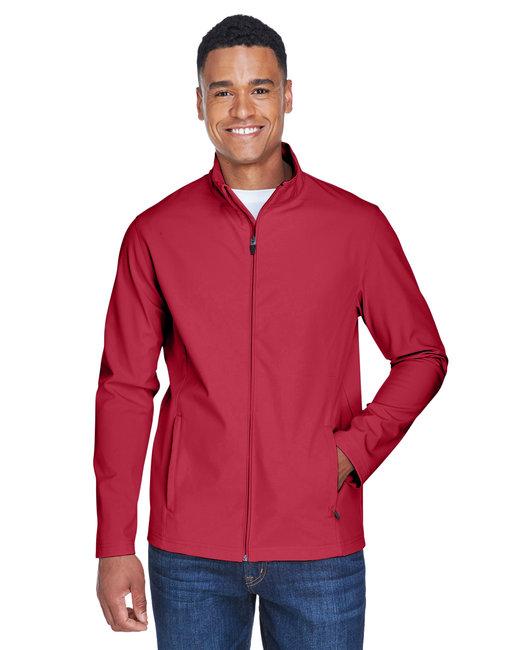 Team 365 Men's Leader Soft Shell Jacket - Sp Scarlet Red