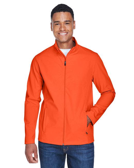 Team 365 Men's Leader Soft Shell Jacket - Sport Orange