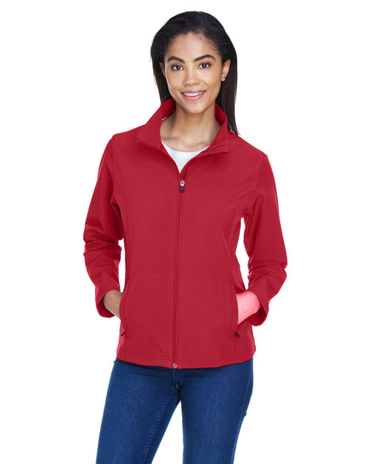 Team 365 Ladies' Leader Soft Shell Jacket - Sp Scarlet Red