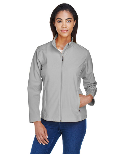Team 365 Ladies' Leader Soft Shell Jacket - Sport Silver