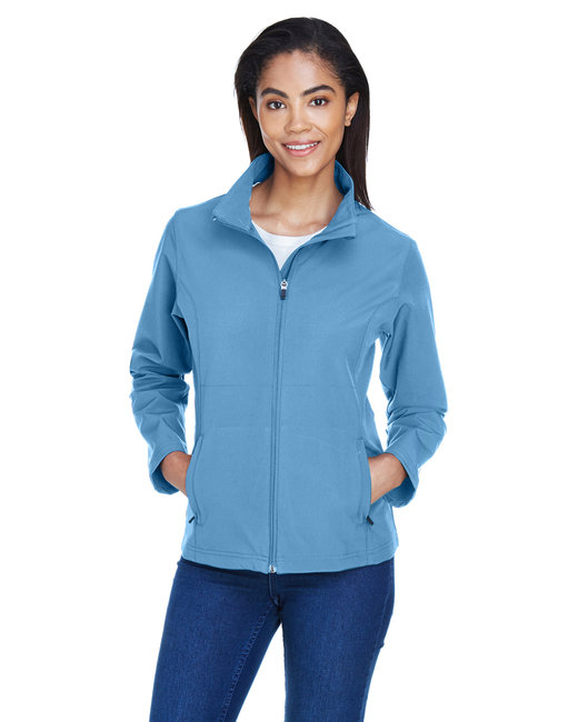 Team 365 Ladies' Leader Soft Shell Jacket - Sport Light Blue