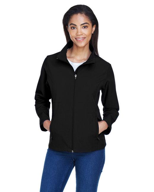 Team 365 Ladies' Leader Soft Shell Jacket - Black