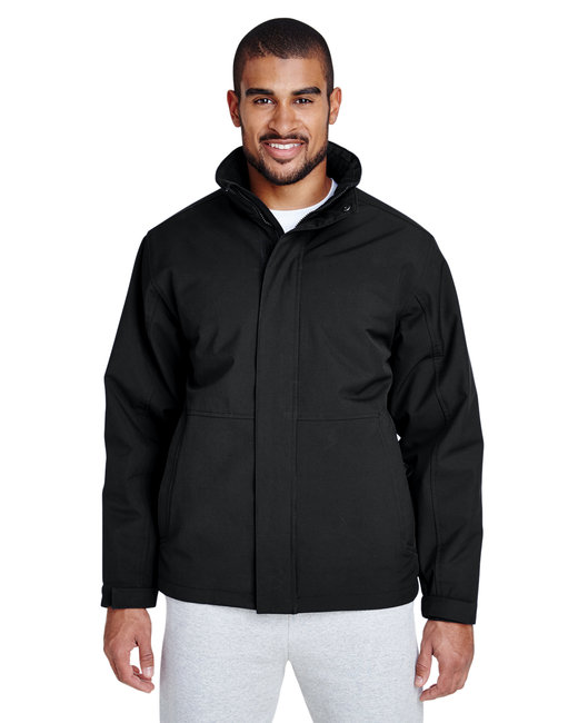 Team 365 Men's Guardian Insulated Soft Shell Jacket - Black