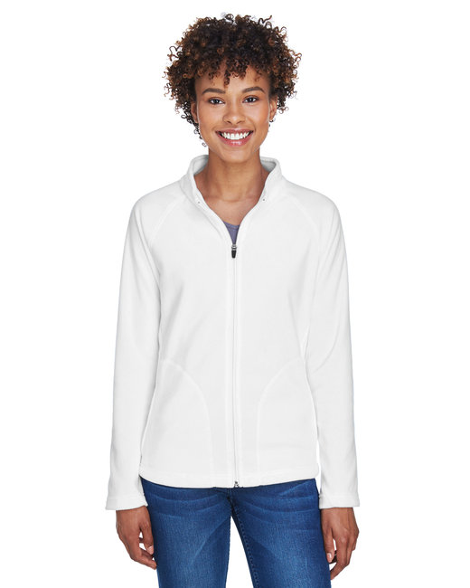 Team 365 Ladies' Campus Microfleece Jacket - White