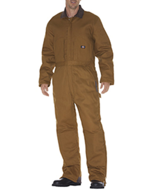 Dickies Unisex Duck Insulated Coverall - Brown Duck  S