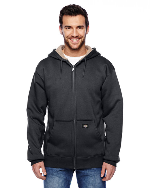Dickies Men's 450 Gram Sherpa-Lined Fleece Hooded Jacket - Black