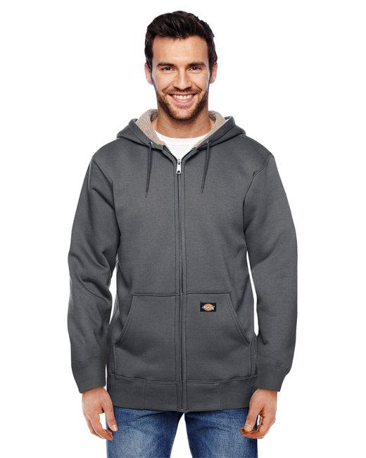 Dickies Men's 450 Gram Sherpa-Lined Fleece Hooded Jacket - Dark Heather