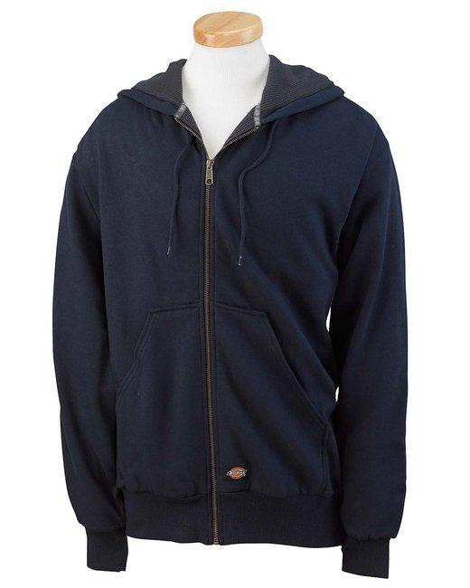 Dickies Men's 470 Gram Thermal-Lined Fleece Hooded Jacket - Dark Navy