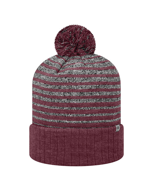 Top Of The World Adult Ritz Knit Cap - Burgundy